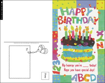 Happy Birthday Card - Printable Worksheet