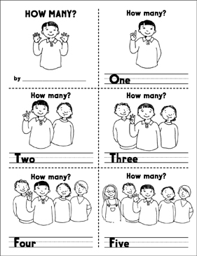 How Many? (Counting 1–10) - Printable Worksheet