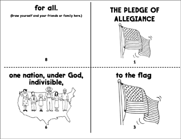 image relating to Pledge of Allegiance Printable identified as The Pledge of Allegiance Printable Mini-Textbooks