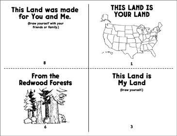 This Land Is Your Land | Printable Mini-Books