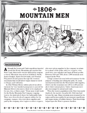 1806: Mountain Men - Printable Worksheet