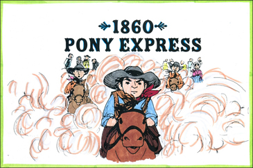 1860: Pony Express - Printable Worksheet