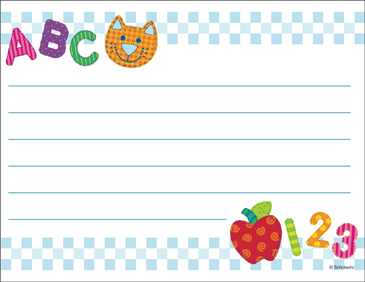ABC Cat and 123 Apple: Stationery - Printable Worksheet