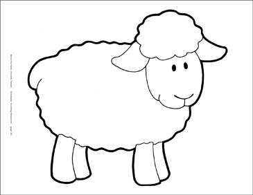 picture relating to Printable Sheep Pattern identify Sheep (BW) Reproducible Habit Printable Clip Artwork and Shots