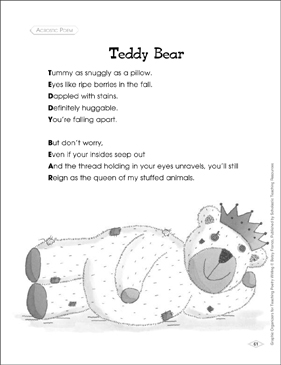 graphic about Printable Acrostics identify Picture Organizer toward Train Acrostic Poem: Teddy Undertake