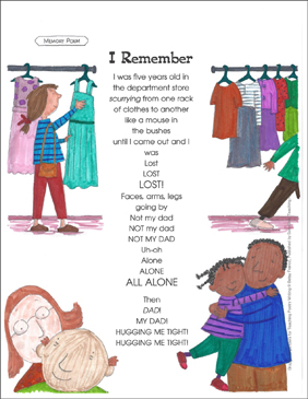 Graphic Organizer to Teach Memory Poem: I Remember - Printable Worksheet