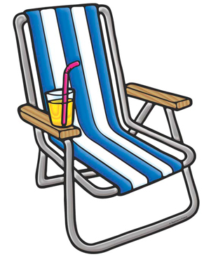 Beach Chair - Image Clip Art