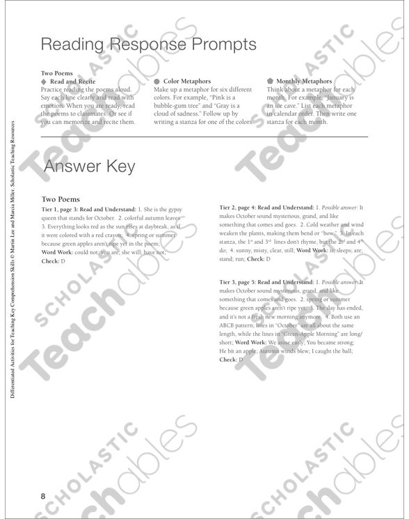 Two Poems Differentiated Prehension Activity Printable Texts. See Inside. Worksheet. Poem Worksheet Year 7 At Clickcart.co
