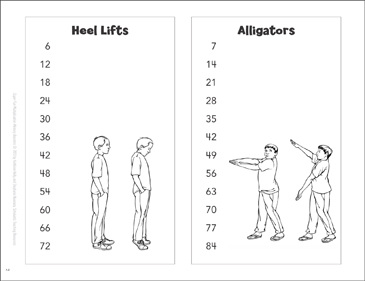 Heel Lifts & Alligators (Counting by 6s & 7s) - Printable Worksheet