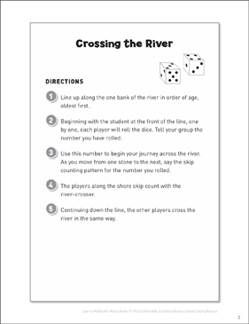 Crossing the River (Counting Game) - Printable Worksheet