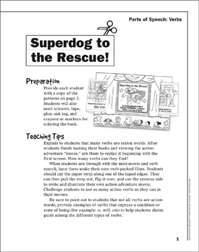 Superdog to the Rescue! - Printable Worksheet