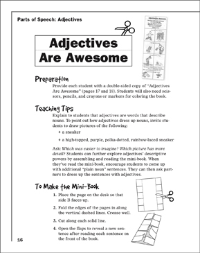 Adjectives Are Awesome - Printable Worksheet