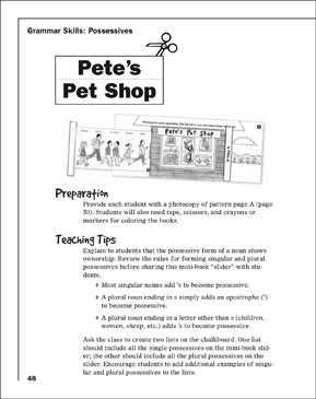 Pete's Pet Shop - Printable Worksheet