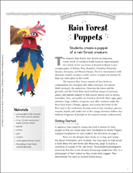 Rain Forest Animals: Art Projects from Brazil - Printable Worksheet