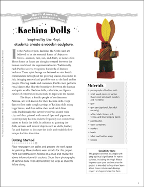 Kachina Dolls: Art Project from the Hopi - Printable Worksheet