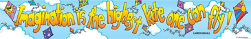 Imagination is the highest kite one can fly! - Image Clip Art