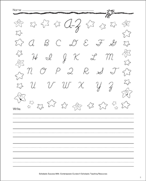 A-Z Uppercase Letters: Cursive Writing Practice - Printable Worksheet