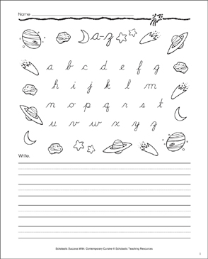 A-Z Lowercase Letters: Cursive Writing Practice - Printable Worksheet