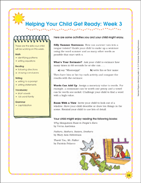Week 3: Summer Express Between Grades 1 and 2 - Printable Worksheet