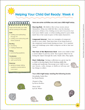 Week 4: Summer Express Between Grades 1 and 2 - Printable Worksheet