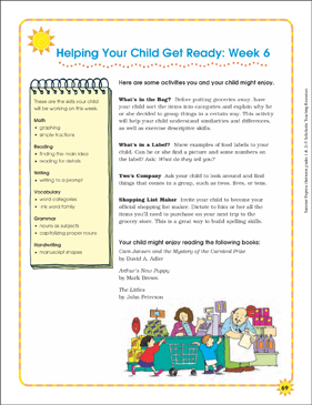 Week 6: Summer Express Between Grades 1 and 2 - Printable Worksheet