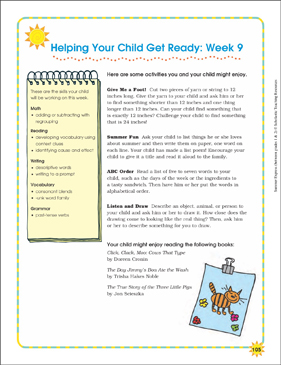 Week 9: Summer Express Between Grades 1 and 2 - Printable Worksheet