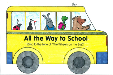 All the Way to School Mini-Book - Printable Worksheet