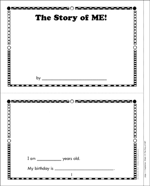 The Story of ME - Printable Worksheet