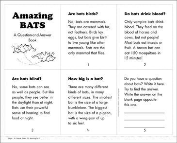 Amazing BATS - Printable Worksheet