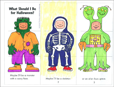 What Should I Be For Halloween? Mini-Book - Printable Worksheet
