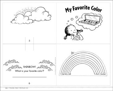 My Favorite Color - Printable Worksheet