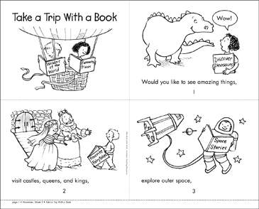 Take a Trip With a Book - Printable Worksheet