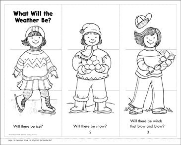 What Will the Weather Be? - Printable Worksheet