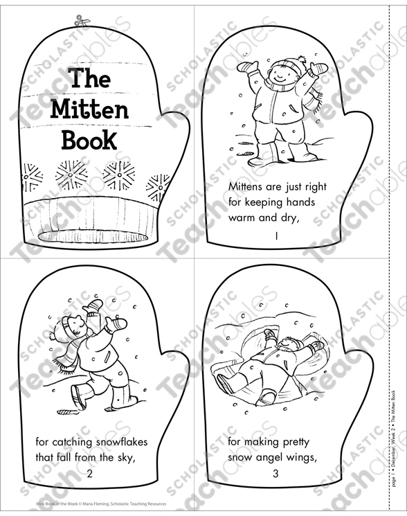 picture about The Mitten Printable Book named The Mitten Guide Printable Mini-Guides