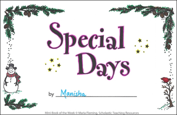 Special Days - Printable Worksheet