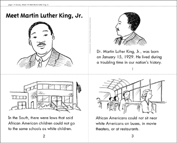 Meet Martin Luther King, Jr. Mini-Book - Printable Worksheet
