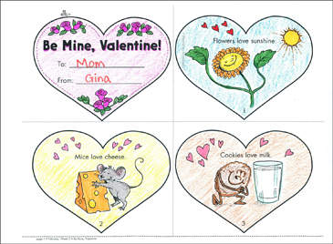 Be Mine, Valentine! Mini-Book Mini-Book - Printable Worksheet