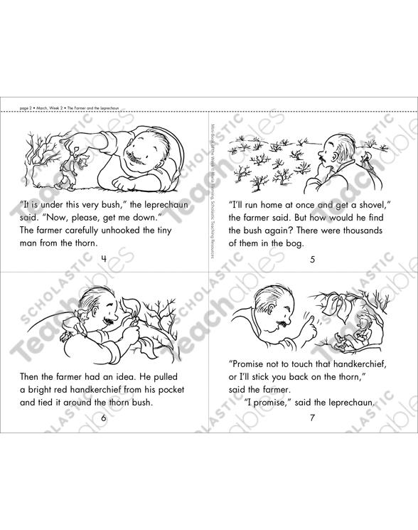 image regarding Printable Leprechaun Story identified as The Farmer and the Leprechaun Printable Mini-Guides