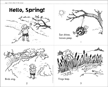 Hello, Spring! - Printable Worksheet