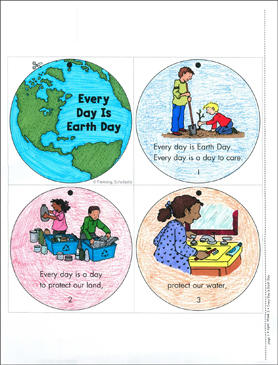 Every Day Is Earth Day Mini-Book - Printable Worksheet