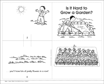 Is It Hard to Grow a Garden? Mini-Book - Printable Worksheet