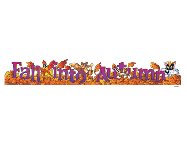 Fall Into Autumn - Image Clip Art