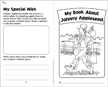 My Book About Johnny Appleseed - Printable Worksheet