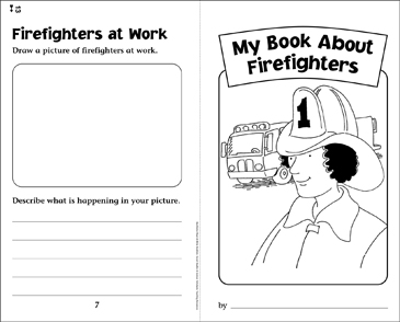 My Book About Firefighters - Printable Worksheet