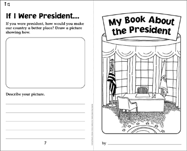 My Book About the President - Printable Worksheet