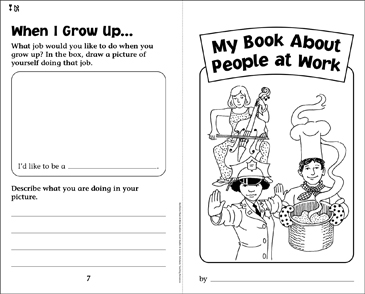 My Book About People at Work - Printable Worksheet