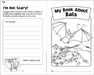 My Book About Bats - Printable Worksheet
