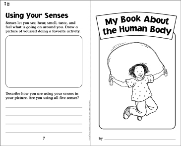 My Book About the Human Body - Printable Worksheet