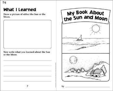 My Book About the Sun and Moon - Printable Worksheet