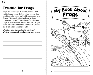 My Book About Frogs - Printable Worksheet